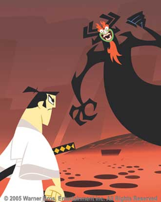 The design on the back also reminds me of Aku from Samurai Jack - Thank you to Cartoon Network and Warner Brothers for providing the picture.