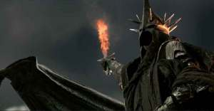 HHH would be mucher cooler if he spit his water bottle onto the Witch King's flaming sword.
