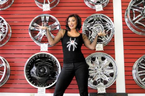 I'd rather her show up to pimp my ride than Xhibit.  Thanks to Bizjournals.com for the picture.