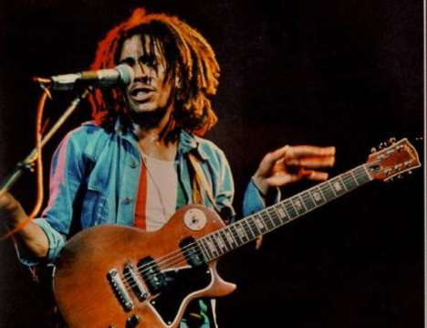 Did you know Bob Marley played a Les Paul guitar?