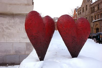 Digging the hearts out of the snow was part of the Hart Dungeon training.